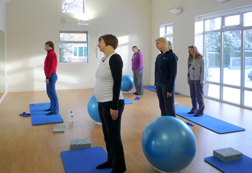Ante and post natal Pilates class
